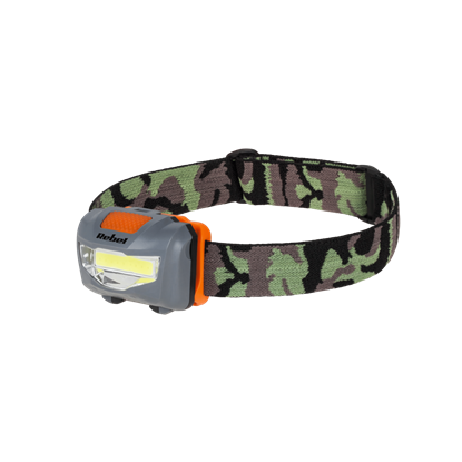 Attēls no Rebel 3W Universal Head torch with white LED diodes / 3 Operating modes