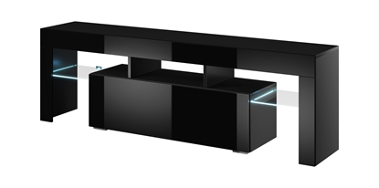 Picture of Cama TV stand TORO 138 black/black gloss