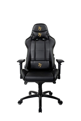 Изображение Arozzi Gaming Chair, Verona Signature PU, Black/Golden Logo