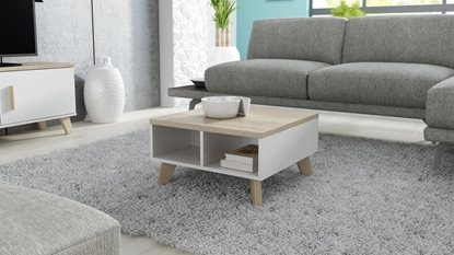 Attēls no Cama LOTTA 60 coffe table white/sonoma oak