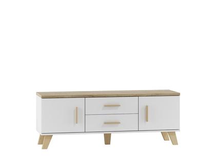 Picture of Cama RTV stand LOTTA 180cm white + sonoma oak