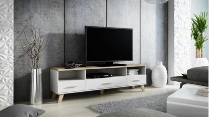 Изображение Cama RTV stand LOTTA 180cm white + sonoma oak