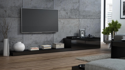 Picture of Cama TV stand LIFE 300/42/35 black/black gloss