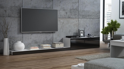 Picture of Cama TV stand LIFE 300/42/35 white/black gloss