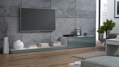 Picture of Cama TV stand LIFE 300/42/35 white/grey gloss