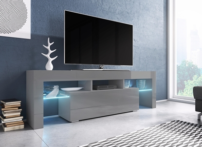 Picture of Cama TV stand TORO 138 grey/grey gloss