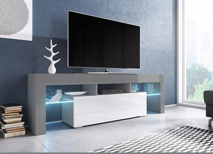 Picture of Cama TV stand TORO 138 grey/white gloss