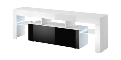 Picture of Cama TV stand TORO 138 white/black gloss