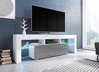 Picture of Cama TV stand TORO 138 white/grey gloss
