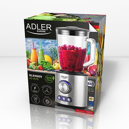 Picture of Adler Blender AD 4078 Tabletop, 1700 W, Jar material Glass, Jar capacity 1.5 L, Ice crushing, Stainless steel