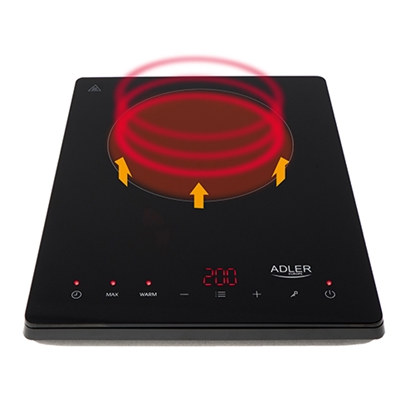 Picture of Adler Hob AD 6513 Number of burners/cooking zones 1, Induction, LCD Display, Black