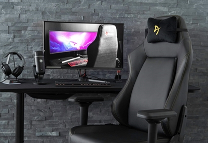 Picture of Arozzi Gaming Chair Primo Pu Black/Gold logo