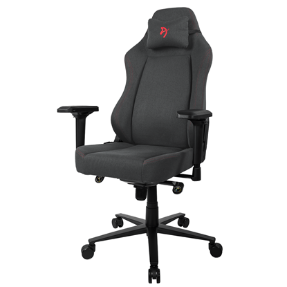 Picture of Arozzi Gaming Chair Primo Woven Fabric  Black/Grey/Red logo