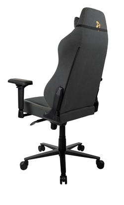 Picture of Arozzi Gaming Chair Primo Woven Fabric Black/Grey/Gold logo