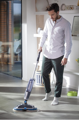 Attēls no Bissell Mop SpinWave  Cordless operating, Washing function, Operating time (max) 20 min, Lithium Ion, 18 V, Blue/Titanium