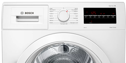 Attēls no Bosch Dryer mashine WTR87TW0SN Energy efficiency class A+++, Front loading, 8 kg, Sensitive dry, LED, Depth 60 cm, White