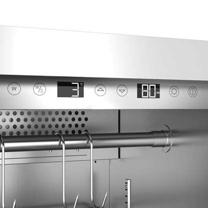 Attēls no Caso Dry aging cabinet with compressor technology DryAged Master 125 Free standing, Cooling type  Compressor technology, Stainless steel