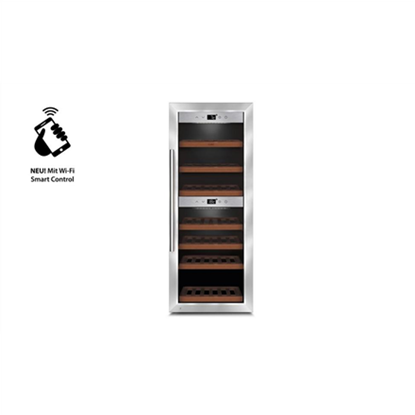 Attēls no Caso Wine cooler  WineComfort 380 Smart  G, Free standing, Bottles capacity Up to 38 bottles, Cooling type Compressor technology, Silver