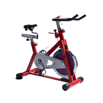 Изображение WNQ F1-318M1 Home Use Spin Bike, 8 Gear, Friction mechanism, 110 kg, Chain Driven, Bright Red, LCD display