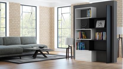 Изображение Cama bookcase PACO white/black