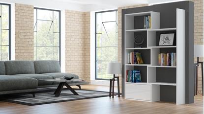 Изображение Cama bookcase PACO white/white