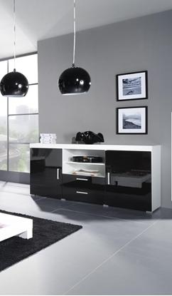 Изображение Cama sideboard SAMBA white/black gloss