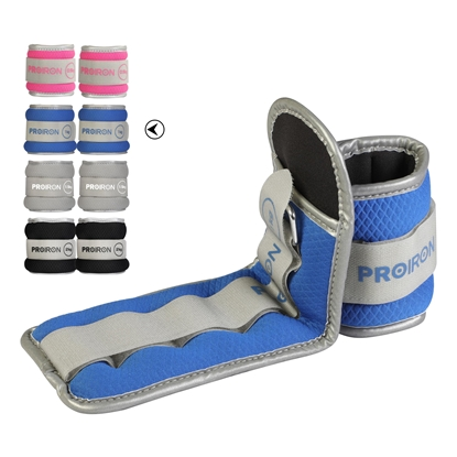 Изображение ProIron Ankle Weight Set Weight Bands, 29.5 x 10 cm, 2 x 1 kg, Blue