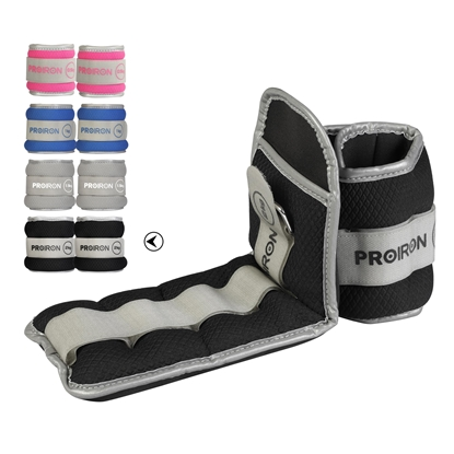 Изображение ProIron Ankle Weight Set Weight Bands, 36 x 12 cm, 2 x 2 kg, Black