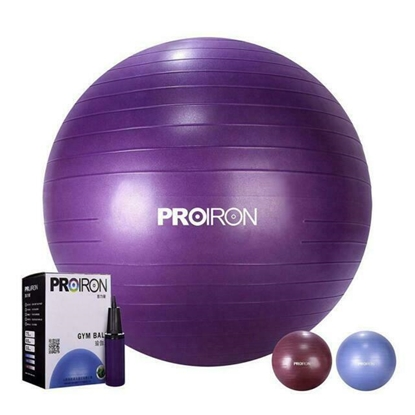 Изображение PROIRON Exercise Yoga Ball Balance Ball, Diameter: 55 cm, Thickness: 2 mm, Purple, PVC
