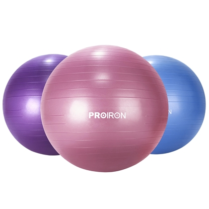 Изображение PROIRON Exercise Ball Balance Ball, Diameter: 75 cm, Thickness: 2 mm, Red, PVC