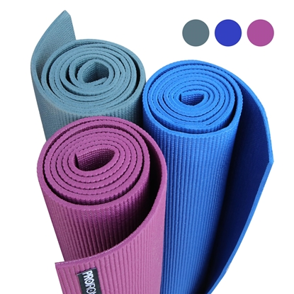 Attēls no PROIRON Yoga Mat Exercise Mat, 173 cm x 61 cm x 0.35 cm, Premium carry bag included, Blue, Eco-friendly PVC