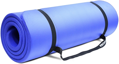 Attēls no PROIRON Pilates Mat Gym Mat, 180 x 61 x 1.5 cm; Rolled up diameter: 15-20 cm, Blue, Rubber Foam