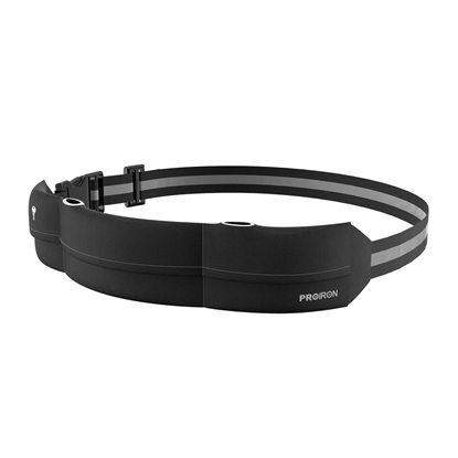 Изображение ProIron Runners Waist Pack Running Belt, 46 x 9 cm; Waist size: 63 - 110 cm, Black