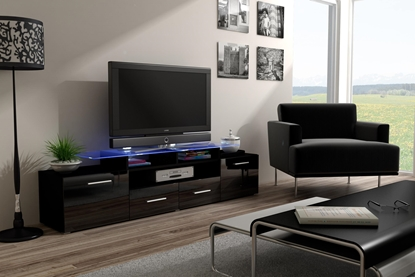 Изображение Cama TV stand EVORA 200 black/black gloss