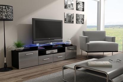 Изображение Cama TV stand EVORA 200 black/grey gloss