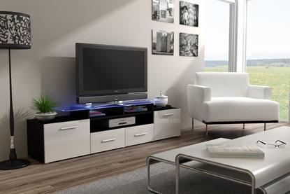 Изображение Cama TV stand EVORA 200 black/white gloss