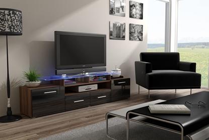 Изображение Cama TV stand EVORA 200 plum tree/black gloss