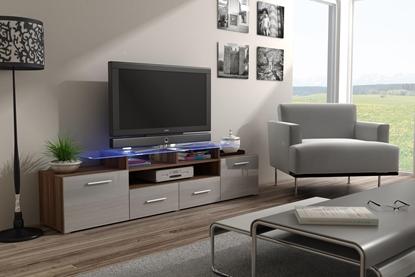 Изображение Cama TV stand EVORA 200 plum tree/grey gloss