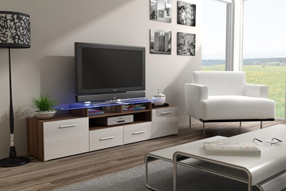 Изображение Cama TV stand EVORA 200 plum tree/white gloss