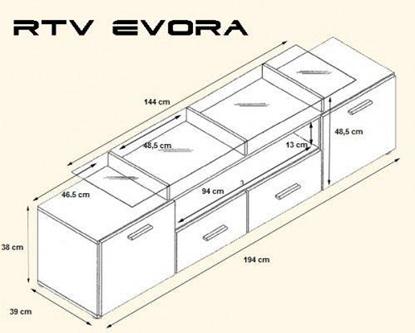 Изображение Cama TV stand EVORA 200 wenge/black gloss