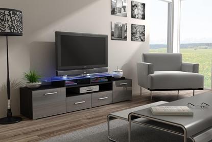 Изображение Cama TV stand EVORA 200 wenge/grey gloss