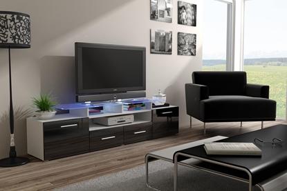Изображение Cama TV stand EVORA 200 white/black gloss