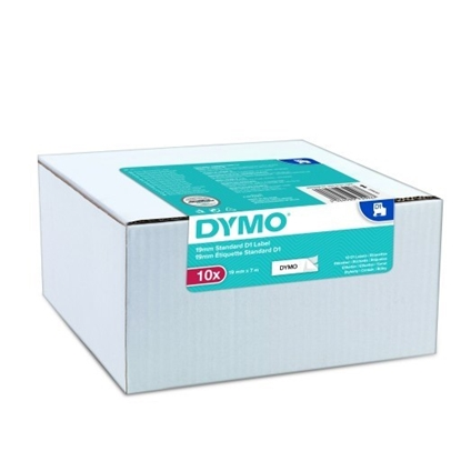 Picture of 1x10 Dymo D1 Label  19mmx7m black to white