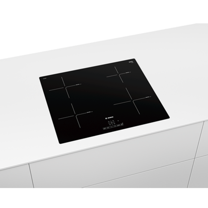Picture of Bosch Serie 4 Induction hob PIE601BB5E Induction, Number of burners/cooking zones 4, TouchSelect Control, Timer, Black