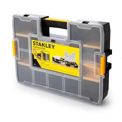 Attēls no Detaļu kaste L ar izņemamiem stapsienu nodalījumiem, Stanley