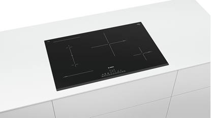 Attēls no Bosch Hob Serie 6 PVS831FB5E Induction, Number of burners/cooking zones 4, Touch control, Timer, Black, Display
