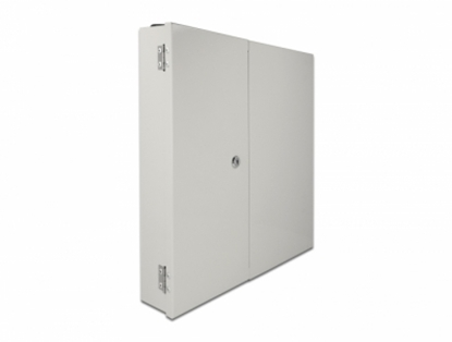 Picture of Delock Fiber optic wall distribution box with double door grey