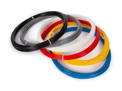"""Picture of (ABS175SET6) 1.75 mm (1/16"""") ABS FILAMENT ASSORTMENT - 6 COLOURS - FOR 3D PRINTER AND 3D PEN"""