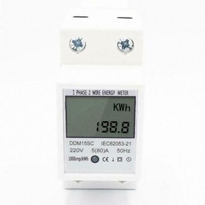 Picture of Vienfāzes elektrības skaitītājs ProBase™, 0.3-60A, 230/240V, 2xDIN