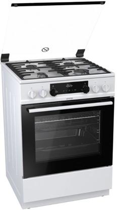Изображение Gorenje Cooker K634WF Hob type  Gas, Oven type Electric, White, Width 60 cm, Electronic ignition, Grilling, LED, 71 L, Depth 60 cm